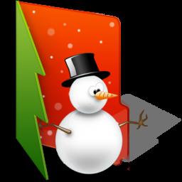 иконки User Folder, папка, новый год, снеговик,