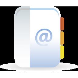 иконки контакты, почта, записная книжка, адресная книжка,