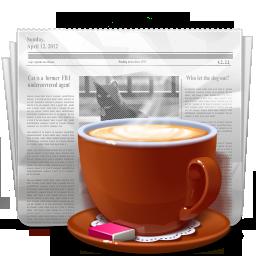 иконки news, новости, газета, кофе, кружка, coffe,