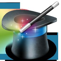 иконка magic, фокус, магическая шляпа,