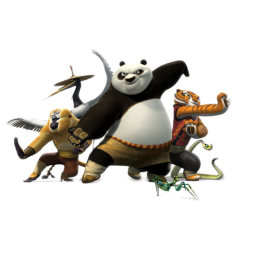 иконки Po, панда, кунг фу панда,