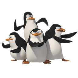 иконка Penguins, пингвины, мадагаскар, пингвин,