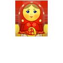 иконки matreshka, матрешка,