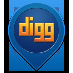 иконки Digg,