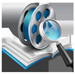 иконки database, база данных, видео, поиск, sraech,