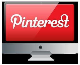 иконка  pinterest, пинтерест, монитор, imac,