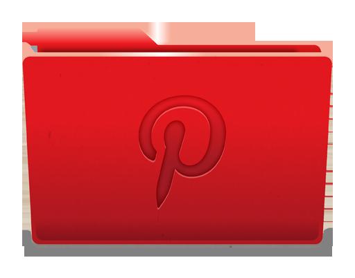 иконка pinterest, пинтерест, folder, папка,