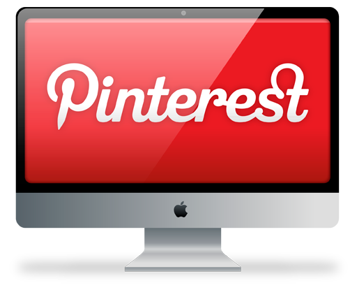 иконки  pinterest, пинтерест, монитор, imac,