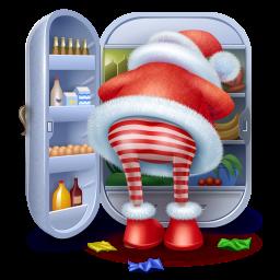 иконки santas teal, санта, санта клаус, Christmas, дед мороз, новый год,