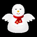 иконка Angel, ангел, снеговик, новый год, snowman,