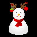 иконки  deer, олень, новый год, snowman, снеговик,