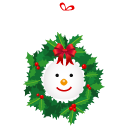 иконки snowman, wreath, новый год, венок, гирлянда,