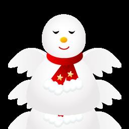иконки Angel, ангел, снеговик, новый год, snowman,