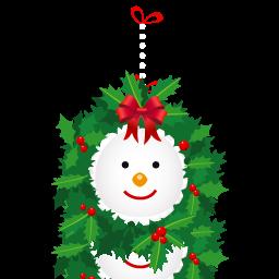 иконка snowman, wreath, новый год, венок, гирлянда,