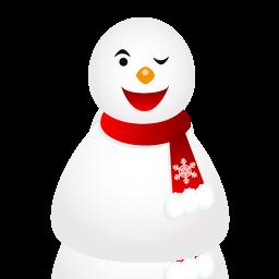 иконки wink, snowman, снеговик, новый год, подмигивает,