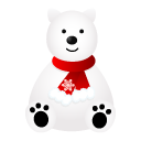 иконки icebeer, мишка, белый медведь, новый год, животные, amimal,