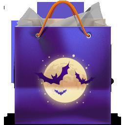 иконка bag, сумка, бумажный пакет, покупки, halloween, хеллоуин, хэллоуин,