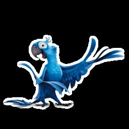 иконка Blue, попугай, рио,