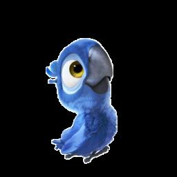 иконки Blue young, попугай, рио,