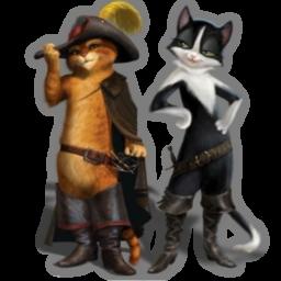 иконки Puss, кот в сапогах, шрек,