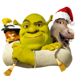 иконки Shrek and Donkey and Puss, шрек,