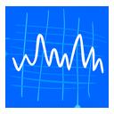 иконка Stocks, акции, котировки, статистика,