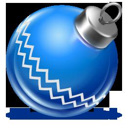 иконки ball blue, новогодний шарик, новый год, игрушка,