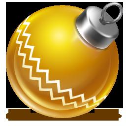 иконки ball yellow, новый год, шарик, игрушка,