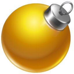 иконки ball yellow, новый год, игрушка, шарик,