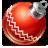 иконка ball red, новый год, игрушка, шарик,