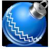иконка ball blue, новогодний шарик, новый год, игрушка,
