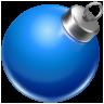 иконки ball blue, новогодний шар, игрушка, новый год, украшение,