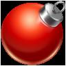 иконки ball red, елочная игрушка, новый год, шарик,