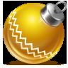 иконка ball yellow, новый год, шарик, игрушка,