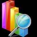 иконки chart search, поиск по графику, график, поиск,