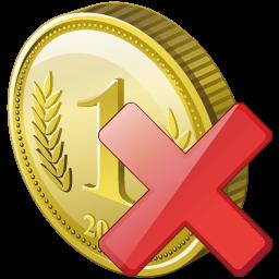 иконки coin delete, удалить,