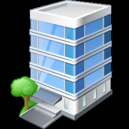 иконка office building, офисное здание,