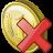иконка coin delete, удалить,