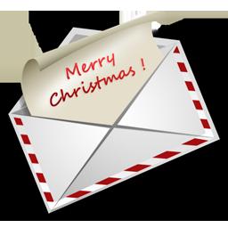 иконка Christmas Letter, почта, конверт, новый год, новогоднее письмо,