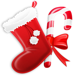 иконки Stocking, новый год,