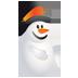 иконка Christmas Ice man, snowman, снеговик, новый год,