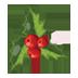 иконки Christmas Mistletoe, новый год, рождество,