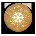 иконка christmas cookie, christmas, рождественское печенье, новогоднее печенье, снежинка, новый год, рождество,