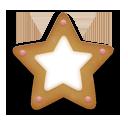 иконки christmas cookie, christmas, звезда, звездочка, рождественское печенье, новогоднее печенье,