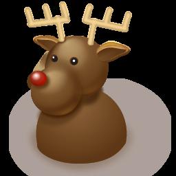 иконки deer, олень, новый год,