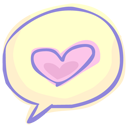иконки talking about love, любовь, сердце,