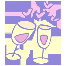 иконки cheers, бокалы, любовь, love,