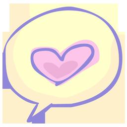 иконка talking about love, любовь, сердце,