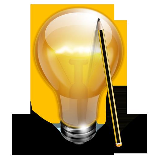 иконки лампочка, ligh, свет, идея, карандаш,