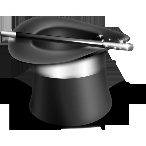 иконки фокус, фокусник, волшебная шляпа,